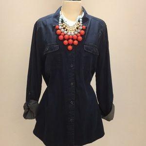 NYDJ ultra soft chambray shirt - 1X